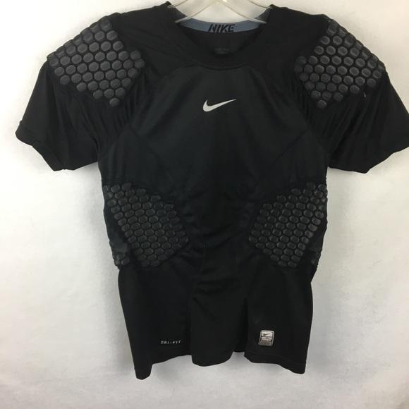 55fbc004 Nike Shirts & Tops | Boys Black Pro Combat Padded Football Shirt ...